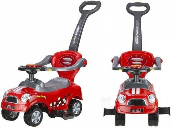 Jeździk pchacz z Prowadnicą Coupe Czerwony