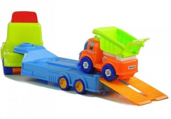 Zestaw Pojazdów Budowlanych Laweta Do Rozkręcania