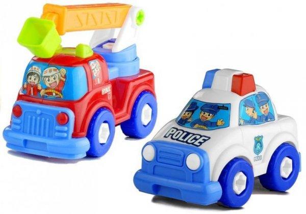 Zestaw Pojazdów Policja Straż Laweta Rozkręcane