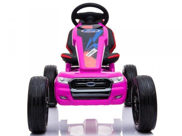 Gokart na Akumulator DK-G01 Różowy
