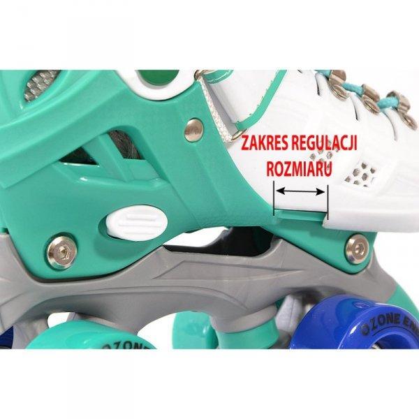 Łyżworolki wrotki regulowane dla dzieci  2w1 Enero Ozone r.35-38