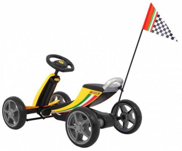 Gokart Ferrari Żółty