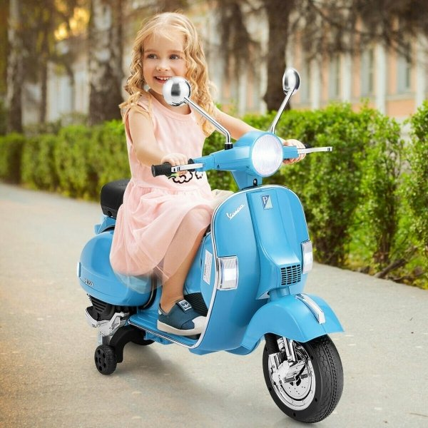 Skuter na akumulator dla dzieci Vespa PX150 Niebieski