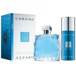 ZESTAW AZZARO Chrome woda toaletowa dla mężczyzn 100ml + dezodorant 150ml
