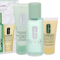 ZESTAW CLINIQUE 3-step Skin Care 1 System cera sucha i bardzo sucha mydło w płynie do twarzy 50ml + tonik 100ml + emulsja do twa