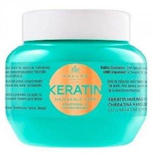 KALLOS Keratin Hair Mask odżywka do włosów dla kobiet 275ml