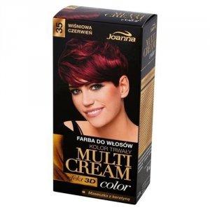 JOANNA Multi Cream Color farba do włosów 35 Wiśniowa Czerwień