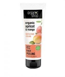 ORGANIC SHOP Organic Apricot & Mango Face Peeling delikatny peeling do twarzy 75ml