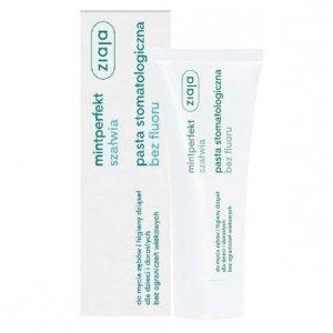 ZIAJA Mintperfekt szałwia pasta stomatologiczna do zębów bez fluoru 75ml
