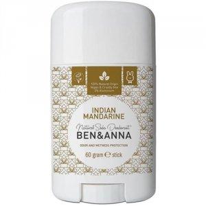 BEN&ANNA Natural Soda Deodorant naturalny dezodorant na bazie sody sztyft plastikowy Indian Mandarine 60g