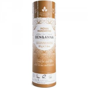 BEN&ANNA Natural Soda Deodorant naturalny dezodorant na bazie sody sztyft kartonowy Indian Mandarine 60g