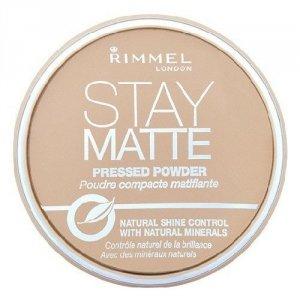 RIMMEL LONDON Stay Matte Long Lasting Pressed Powder puder prasowany dla kobiet 14g (002 Pink Blossom)