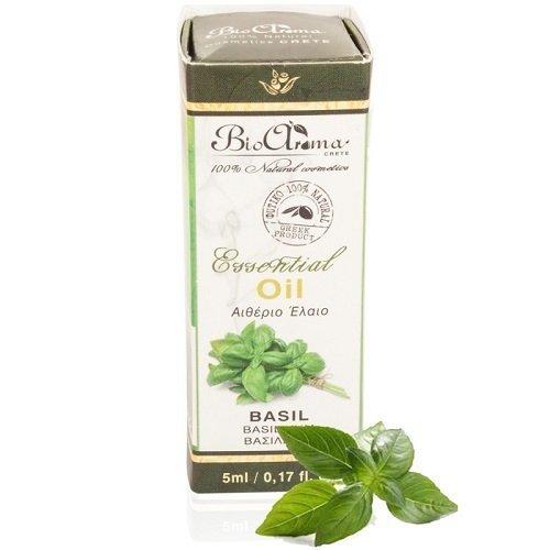 BIOAROMA olejek eteryczny z BAZYLII w 100% naturalny 5ml