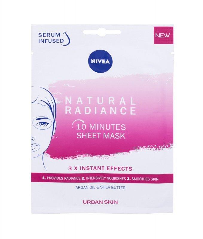 Nivea Natural Radiance 10 Minutes Sheet Mask (Maseczka do twarzy, W, 1szt)