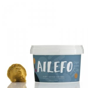 Ailefo, Organiczna Ciastolina, duże opakowanie, żółty, 540g