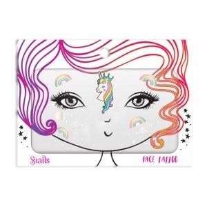 Snails, Naklejka na twarz dla dzieci, Face Tattoo - Unicorn
