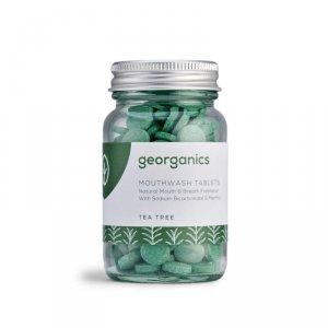 Georganics, Naturalne tabletki do płukania jamy ustnej, Tea Tree, 180 tabletek