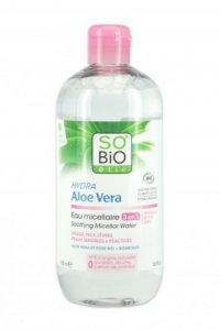 SO BIO, Hipoalergiczna woda micelarna z aloesem do skóry wrażliwej Bio, 500ml