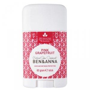 BEN and ANNA Naturalny dezodorant na bazie sody PINK GRAPEFRUIT (w sztyfcie,  plastikowy), 60g