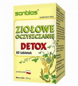 SANBIOS Ziołowe oczyszczanie Detox 60 tabl.