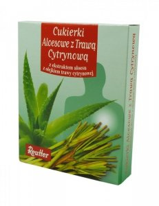 Cukierki Aloes + Trawa Cytrynowa 50g REUTTER