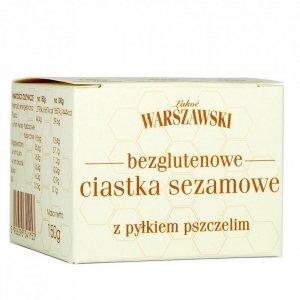 ŁAKOĆ WARSZAWSKI - Ciastka sezamowe z pyłkiem pszczelim bezglutenowe 150g