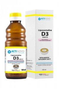 ACTINOVO Liposomalna Witamina D3 2000IU bez alkoholu - 100ml (50 dni)