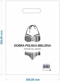 REKLAMÓWKA DOBRA POLSKA BIELIZNA GR 0,055 mm DUŻA-25szt