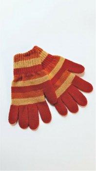 Rękawiczki dziewczęce paski RWM-3056