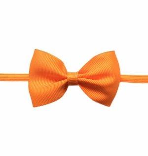 1 kIDS WowSorie opaska na gumce z kokardą pomarańczowa