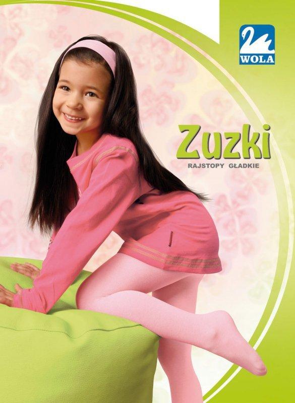 ZUZKI - Rajstopy, cienka bawełna, gładkie 2-6 lat