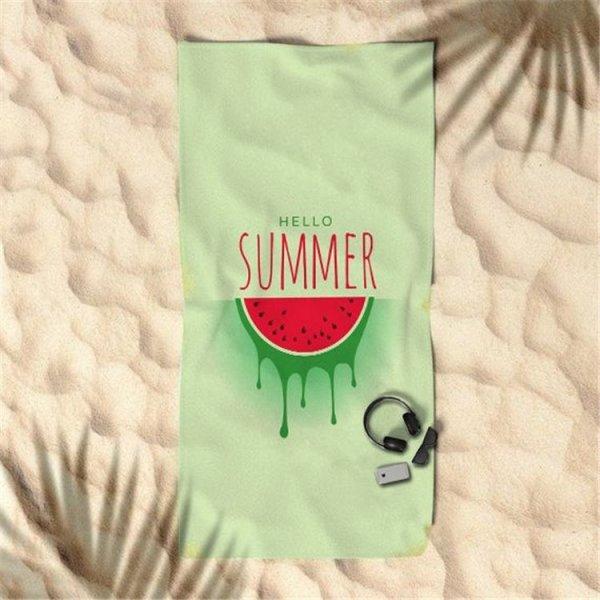 Ręcznik plażowy prostokątny mały 150x70 Zielony Arbuz REC45WZ8