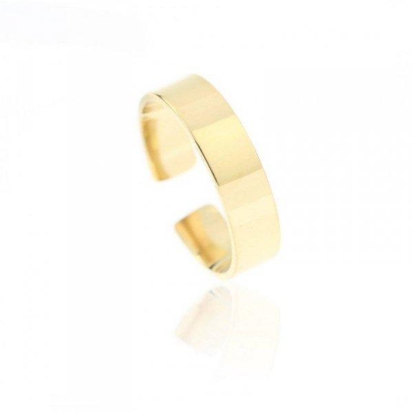 Pierścionek stal chirurgiczna platerowana złotem PST608, Rozmiar pierścionków: US7 EU14