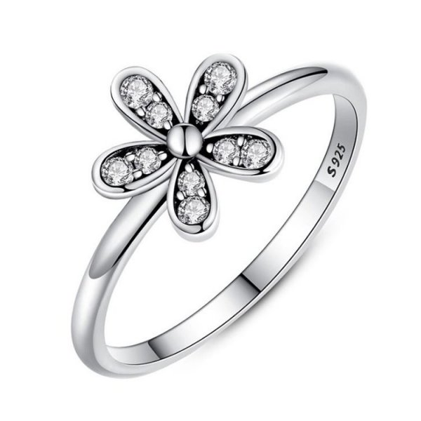 PIERŚCIONEK SREBRO925 SWEET FLOWER PE16, Rozmiar pierścionków: US8 EU17