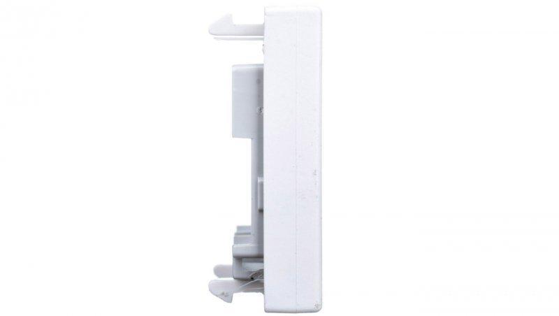 Simon Connect Płytka K45 gniazda teleinformatycznego pojedynczego RJ płaska czysta biel K076/9