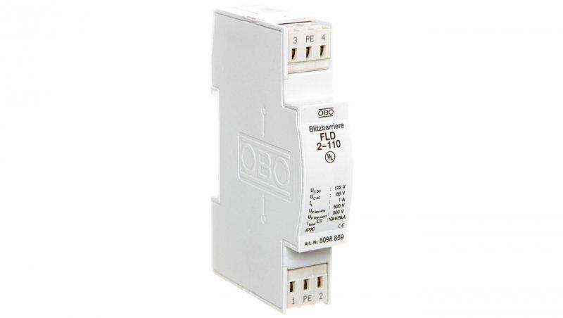 Ogranicznik przepięć dla systemów dwużyłowych 86VAC/122VDC 2,5kA 5kV FLD2-110 5098859