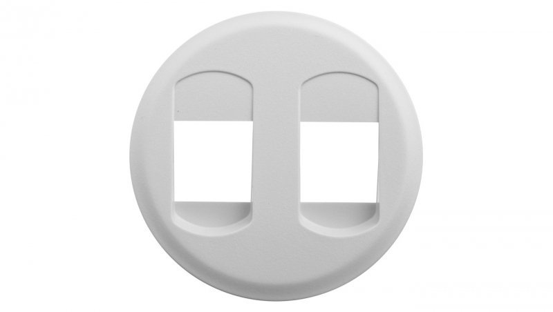 CELIANE Plakietka gniazda głośnikowego podwójnego biała 068212