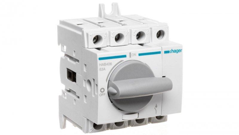 Rozłącznik izolacyjny 4P 63A HAB406