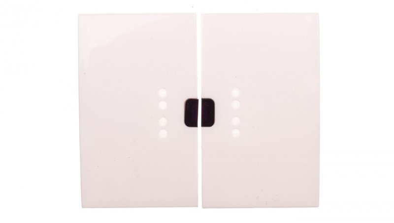 SISTENA LIFE Klawisz łącznika świecznikowego z podświetleniem arctic 771070