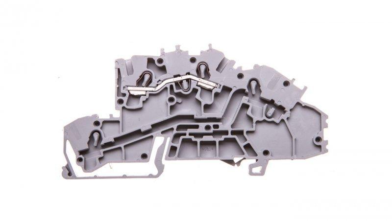 Złączka szynowa 1-pietrowa 2,5mm2 L szara 2003-7650 TOPJOBS
