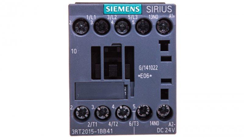 Stycznik mocy 7A 3P 24V DC 1Z 0R S00 3RT2015-1BB41