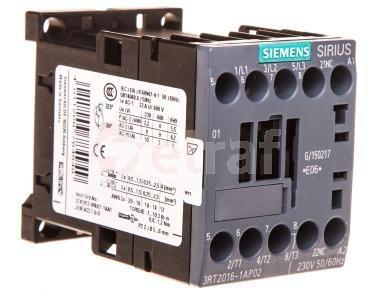 Stycznik mocy 9A 3P 230V AC 0Z 1R S00 3RT2016-1AP02