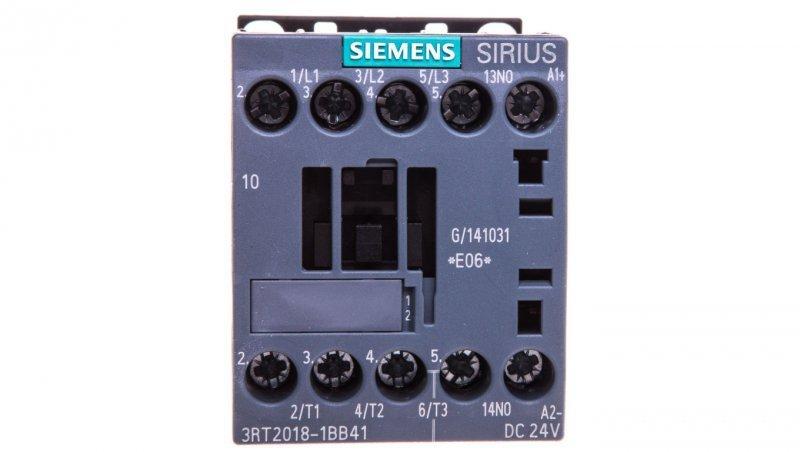Stycznik mocy 16A 3P 24V DC 1Z 0R S00 3RT2018-1BB41