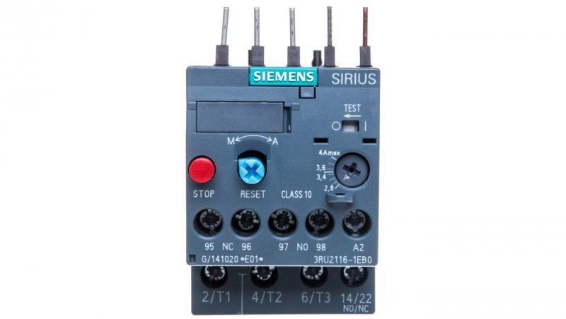 Przekaźnik termiczny 2,8-4A S00 3RU2116-1EB0
