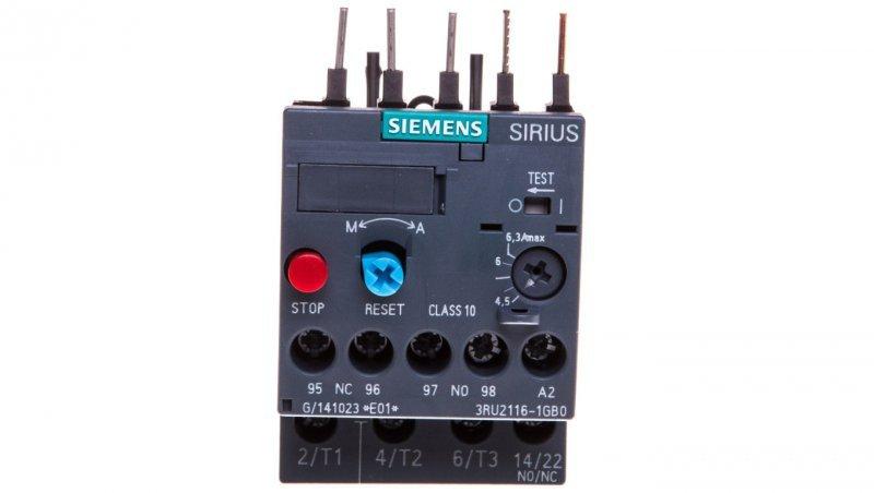 Przekaźnik termiczny 4,5-6,3A S00 3RU2116-1GB0
