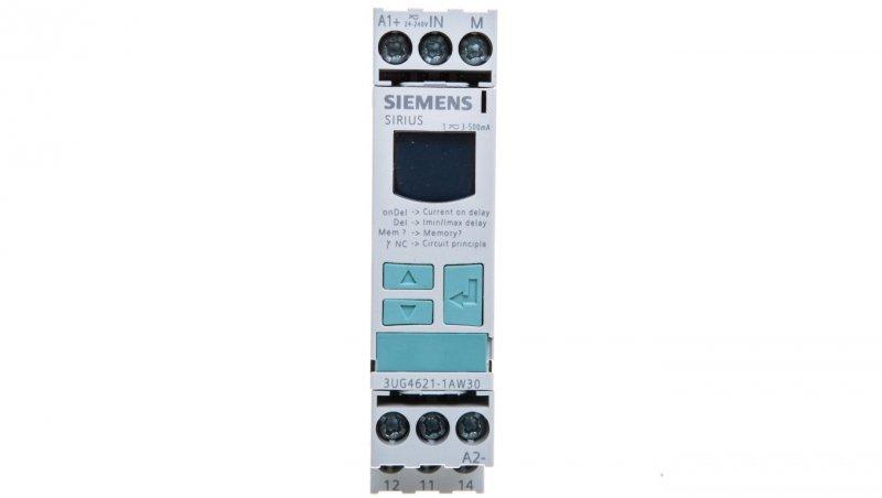 Przekaźnik kontroli prądu 1-fazowy 0,02-0,5A 1P 0,1-20sek 24-240V AC/DC 3UG4621-1AW30