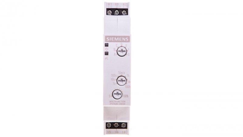 Przekaźnik czasowy 1P 3A 0,05sek-100h 12-240V AC/DC wielofunkcyjny 7PV1508-1AW30