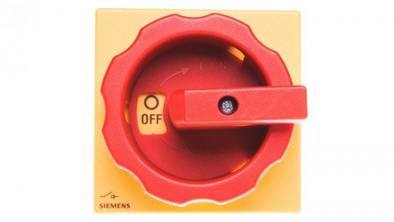 Łącznik krzywkowy 0-1 3P 32A napęd drzwiowy rozłączny żółto/czerwony IP65 3LD2213-0TK53