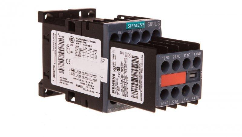 Stycznik mocy 7A 3P 230V AC 2Z 2R S00 3RT2015-1AP04-3MA0