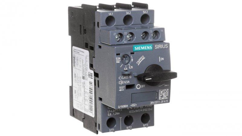 Wyłącznik silnikowy 3P 0,35-0,5A 1Z 1R S00 3RV2011-0FA15